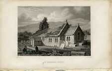 1834 Print of St Lawrence Church Isle of Wight