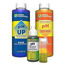 General Hydroponics - Ph Control Test Kit - GH Adjust Up Down Expedited Shipping