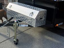 Aluminum Truck Tongue Trailer Tool Box for Pickup RV Storage Garage 49""