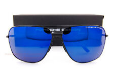 New Porsche Design Sunglasses P8607 8607 A Black/Blue Mirrored Men Women
