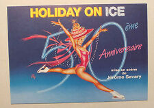 CP DE L AFFICHE - HOLIDAY ON ICE - 50EME ANNIVERSAIRE *