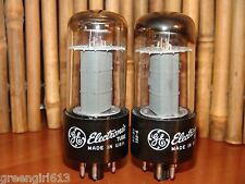 Matched Pair GE 6V6 GT Vacuum Tubes  Results 4475 4200 µmhos