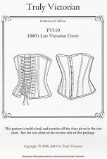 Schnittmuster Truly Victorian TV 110: 1880's Late Victorian Corset
