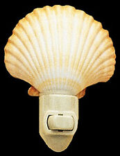 Real Seashell Night Light Mexican Deep Scallop  Shell Nautical Beach Decor Gift