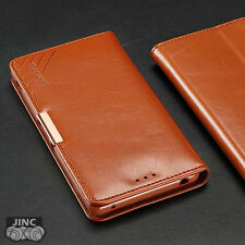 Genuine Leather Book Case Flip Cover Pouch for SONY Xperia Z3+/Plus/Z4 E6553