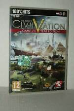 SID MEIER'S CIVILIZATION V GOTY GAME OF THE YEAR USATO PC DVD VER UK RS2 51036