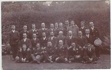 English Real Photo. Gentlemen at ease. Mailed from Chatham, Kent . 1907