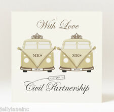 Handmade Civil Partnership Campervans Mrs & Mrs Card