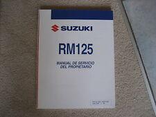 SUZUKI RM 125, BEDIENUNGSANLANLEITUNG, MANUAL DE SERVICIO DEL PROPIETARIO, 2007