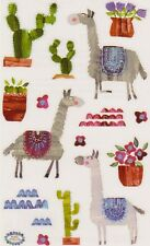 Mrs. Grossman's Giant Stickers - Llamas - Plus Cactus and Flowers - 2 Strips