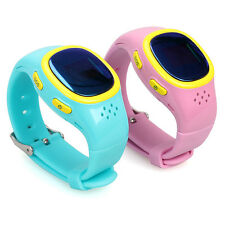 Dual GPS GSM GPRS Position Tracker Anti-lost SOS Soft Wrist Watch For Kids Child