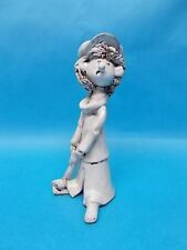 """Bencini Italy Pottery 5.5"""" Golfer Golf Character Figural Figurine Red Clay"""