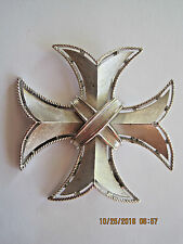 GORGEOUS VTG TRIFARI SILVER-TONE MALTESE CROSS PENDANT BROOCH PIN