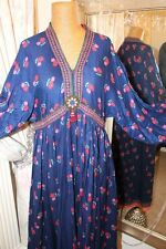 Monsoon Janet Wood hand embroidered afhgan dress - Ditsy Vintage 14 - 1970s