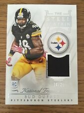 2015 National Treasures Acero Cortina Parche de Jersey Bud Dupree 24/25 Steelers