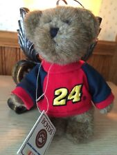 "NWT Boyds Nascar #24 Jeff Gordon MINI TEDDY BEAR 6"" Plush STUFFED ANIMAL"