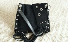 NEW!! SASSY BLACK SHOULDER BAG & EDGY BELT WITH FRINGES!!