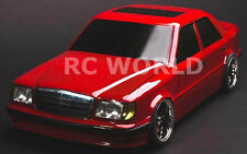 1/10 RC Car DRIFT Body Shell  MERCEDES BENZ AMG W124  Body w/ Light Buckets
