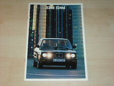62900) BMW 524d 524td E28 Prospekt 01/1987