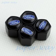 BLACK Auto Wheel Tire Tyre Valve Stem Air Dust Cap Cover Set  For Ford All Model