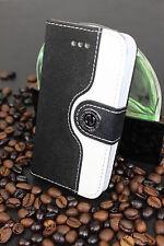 Luxus iPhone 4 4S Tasche Schutz Hülle  Case Cover Etui Schwarz / Weiss