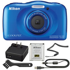 Nikon COOLPIX S33 13.2MP Waterproof Shock-Freezeproof Digital Camera (Blue)