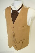 Dandy Desperados Corduroy 4 Pocket Vest Cowboy Steampunk (Mens L 42) 2651