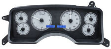 Dakota Digital 90-93 Ford Mustang Analog Dash Gauge SilverAlloy Blue VHX-90F-MUS