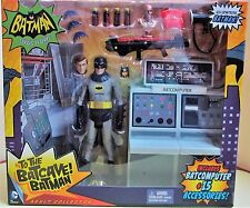 DC action figure Adam West TV Batman Batcave with 15 cool accessories NEW IN BOX
