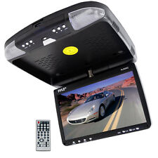"NEW! Pyle PLRD92 9"" LCD Roof Mount Flip Down Monitor W/ Built-In DVD Player"