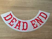Dead End Patch Banner Bottom XXL Biker Kutte MC Chopper Motorcycles