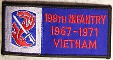 Embroidered Military Patch Vietnam Tour 198th Infantry badge NEW