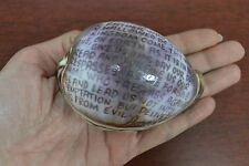 HANDCARVED LORD'S PRAYER PURPLE COWRIE SEA SHELL BEACH DECORATION CRAFT #7025