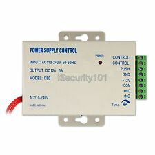 AC 110-220V DC12V 3A Power Supply for Office Home RFID Access Control System Kit