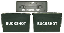 "BUCKSHOT ammo box( DECALS) two 6.5""x 1.5"" one 4""x0.75"" NO BOX INCLUDED"