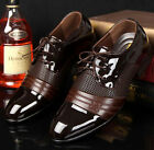 Men Bridegroom Wedding Business lace up wedding Oxford Dress Shoes Black Brown