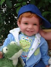 "Reborn 22"" red headed Toddler Boy Doll ""Shawn- ""Fun with Frog"""