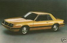 Original Vintage 1980s Advertising PC- Sports Car- Automobile- 1983 Ford Mustang
