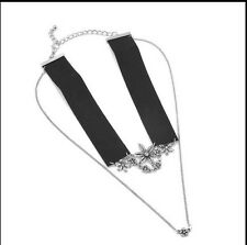 Zara Statement Choker Necklace, Black And Silver Bloggers Favorite, Sold Out