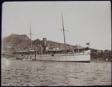 Glass Magic Lantern Slide STEAMSHIP OF STEAMER POINT ADEN C1910 PHOTO YEMEN