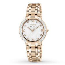 Citizen Eco Drive Ladies Bella Rose Gold Watch EM0123-50A Retail $495