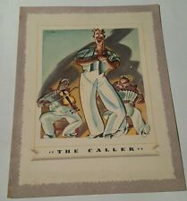 "VINTAGE CANADA  STEAMSHIP LINES DINNER MENU  "" THE CALLER """