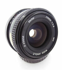Vivitar MC 28mm f2.8 Prime Wide Angle Lens in Pentax PK-A Mount Free UK P&P!
