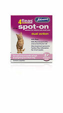Johnson's 4 Flea Spot-on for Cats Dual Action Posted Today If Posted before 1pm