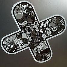 Pflaster Stickerbomb Schwarz Weiß Auto Aufkleber Sticker Tuning JDM DUB Style