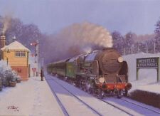 Lord Nelson Class 853 Southern Railway Engine Steam Train Christmas Xmas Card