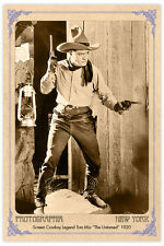 Screen Cowboy Legend Tom Mix Vintage Photograph A++ Reprint Cabinet Card