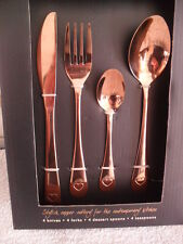 16 Piece Cutlery Set Copper/Rose Gold