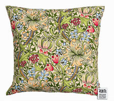 "William Morris Gallery Golden Lily Filled Cushion 17"" - Archive Print"
