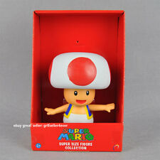 "1X Large PVC Super Mario Brothers Action Figure Toad Kinopio 7""/17cm#US"